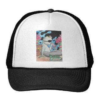 Pirate Mercat and turtle Trucker Hat
