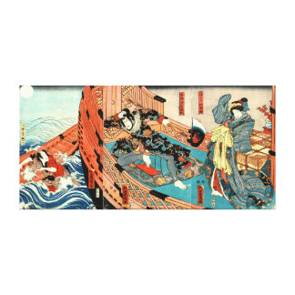 Pirate, Merchant and Maiden 1848 Canvas Print