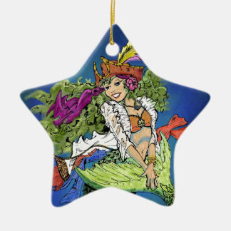 Pirate Mermaid Ceramic Ornament