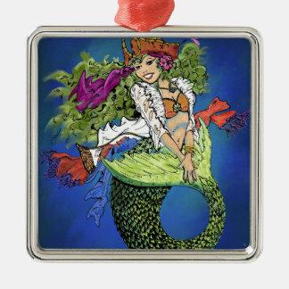 Pirate Mermaid Metal Ornament