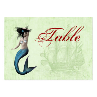 Pirate Mermaid Table Number Cards Business Card Template