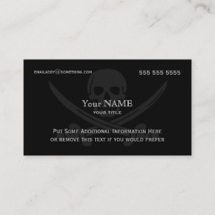 Pirate business cards zazzle pirate modern business card colourmoves