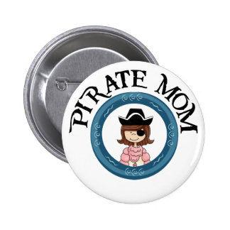 Pirate Mom Pinback Buttons