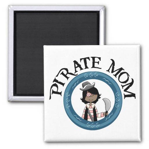 Pirate Mom Fridge Magnet