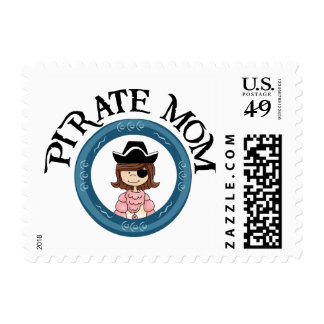 Pirate Mom Postage Stamps
