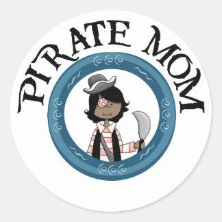 Pirate Mom Stickers