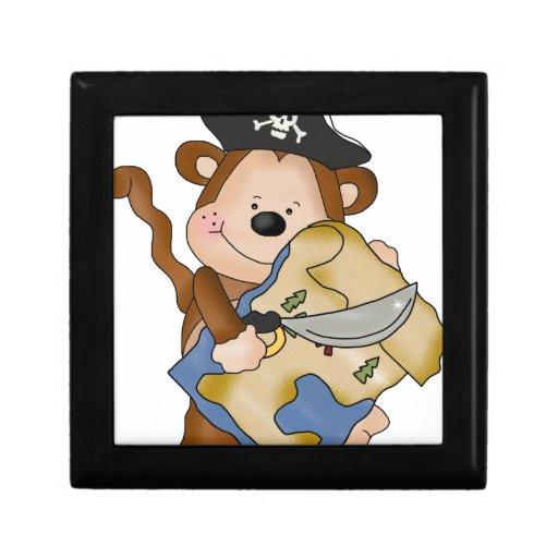 Pirate Monkey Keepsake Box