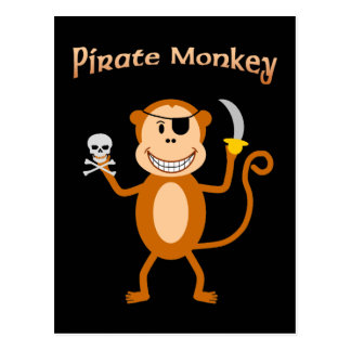 Pirate Monkey Postcard