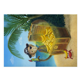 Pirate Monkey Poster