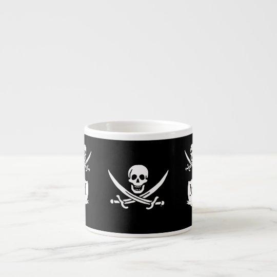 Pirate & monogram espresso cup