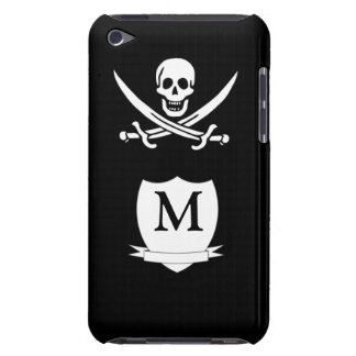 Pirate & monogram iPod touch case
