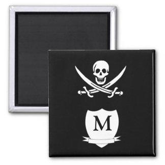 Pirate & monogram magnet