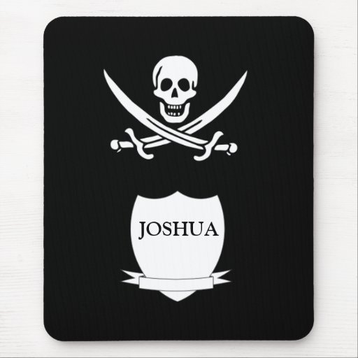 Pirate & monogram mouse pad