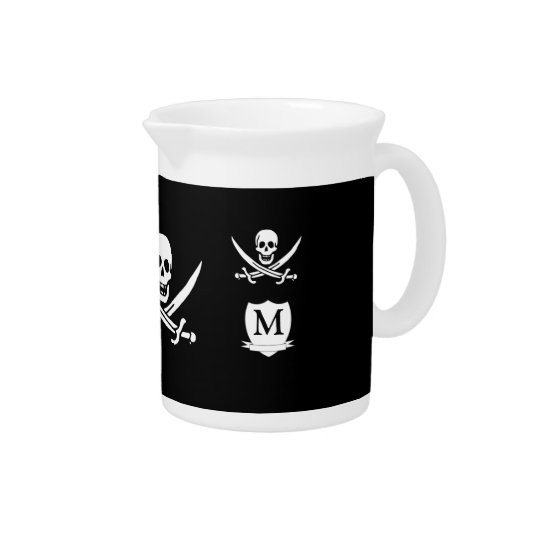 Pirate & monogram pitcher