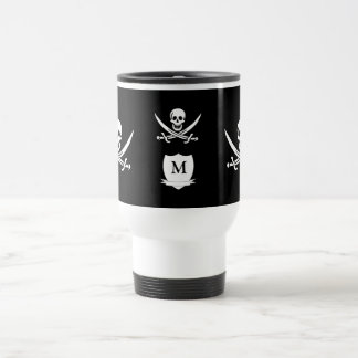 Pirate & monogram travel mug