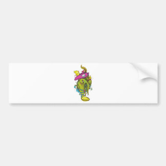 pirate monster squid octopus thing car bumper sticker