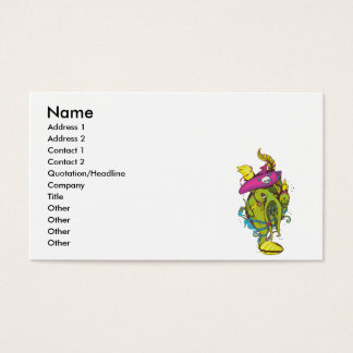 pirate monster squid octopus thing business card