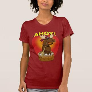 Pirate Moose Ahoy! Ladies T-Shirt