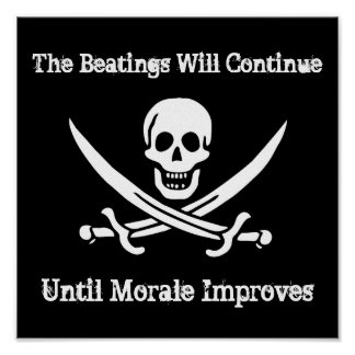 Pirate Morale Booster Poster
