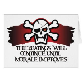 Pirate Morale Card