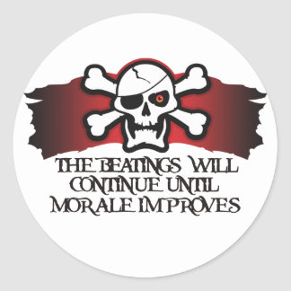 Pirate Morale Classic Round Sticker