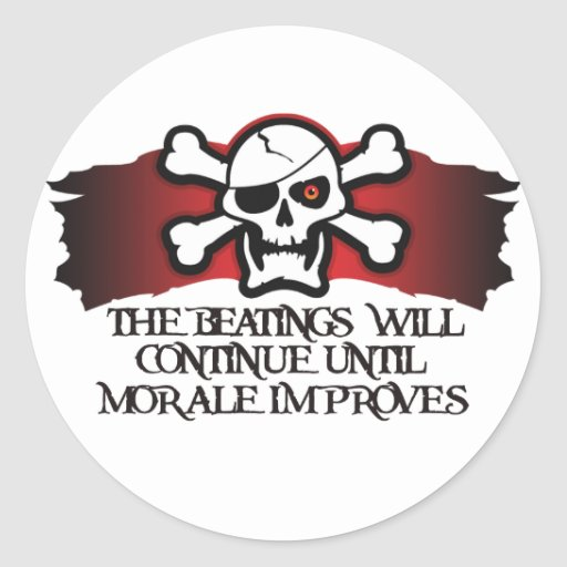 Pirate Morale Round Stickers