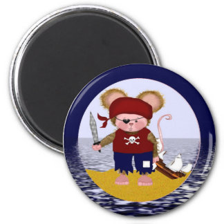 Pirate Mouse Refrigerator Magnet