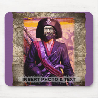 Pirate MousePad - Personalize Photo & Text
