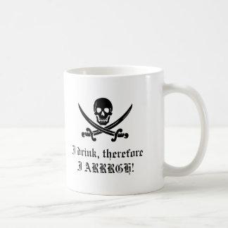 Pirate Mug: I think, therefore I am 1 Coffee Mug