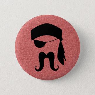 Pirate Mustache Button