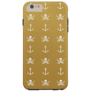 Pirate Nautical gold and white iPhone 6 Plus Case