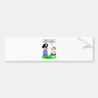 pirate nobodys perfect eye patch peg leg hook hand bumper sticker