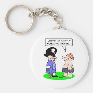 pirate nobodys perfect eye patch peg leg hook hand keychains