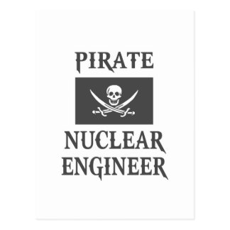 Pirate Nuclear Engineer Postcard
