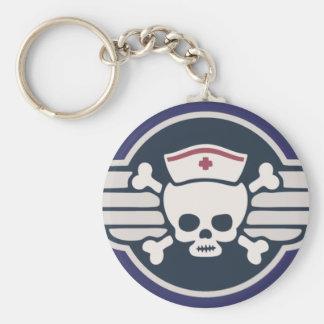 Pirate Nurse Wings III Basic Round Button Keychain