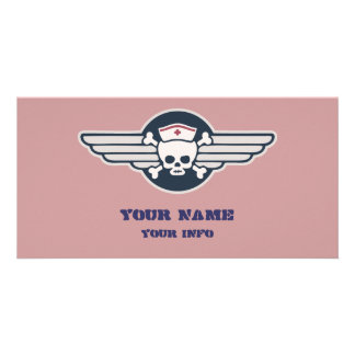 Pirate Nurse Wings III Card