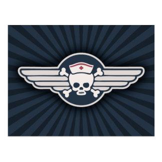 Pirate Nurse Wings III Postcard
