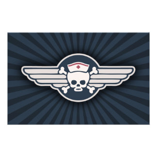 Pirate Nurse Wings III Stationery Design