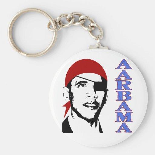 pirate obama basic round button keychain