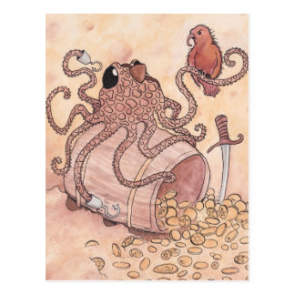 Pirate Octopus Postcard