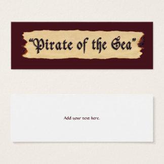 Pirate of the Sea Mini Business Card