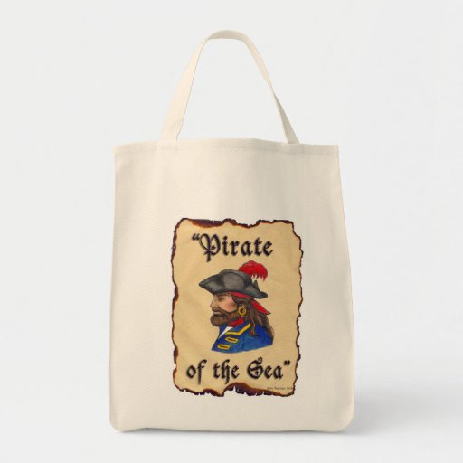 Pirate of the Sea Tote Bags