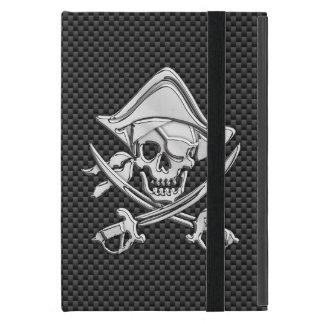 Pirate on Black Carbon Fiber Style Case For iPad Mini