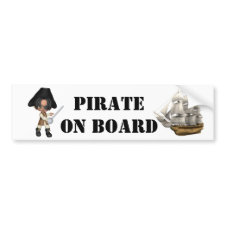 Pirate On Board bumpersticker