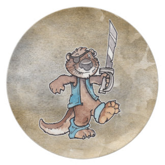 Pirate Otter Party Plate