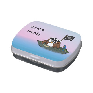 pirate owl candy box jelly belly candy tin