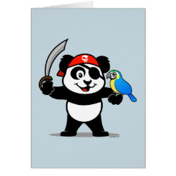 Greeting Card with Pirate Panda design