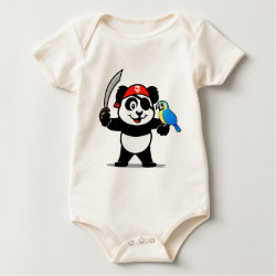 Infant Organic Creeper with Pirate Panda design