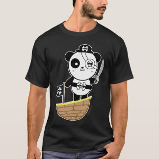 Pirate Panda Bear T-Shirt