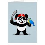 Pirate Panda Greeting Card